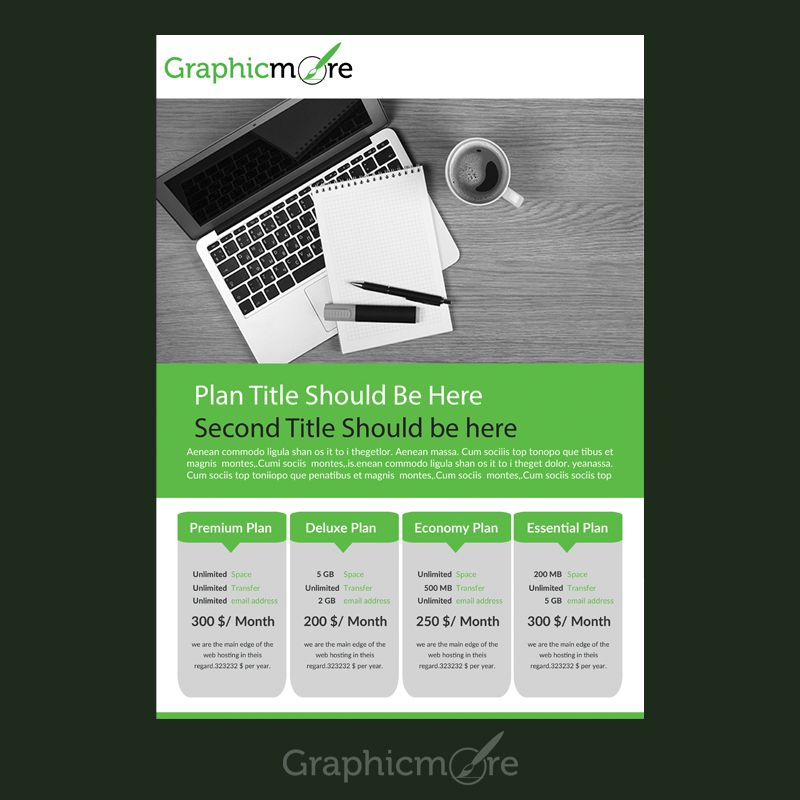 Pricing Table Flyer Design Free Psd File  Flyers