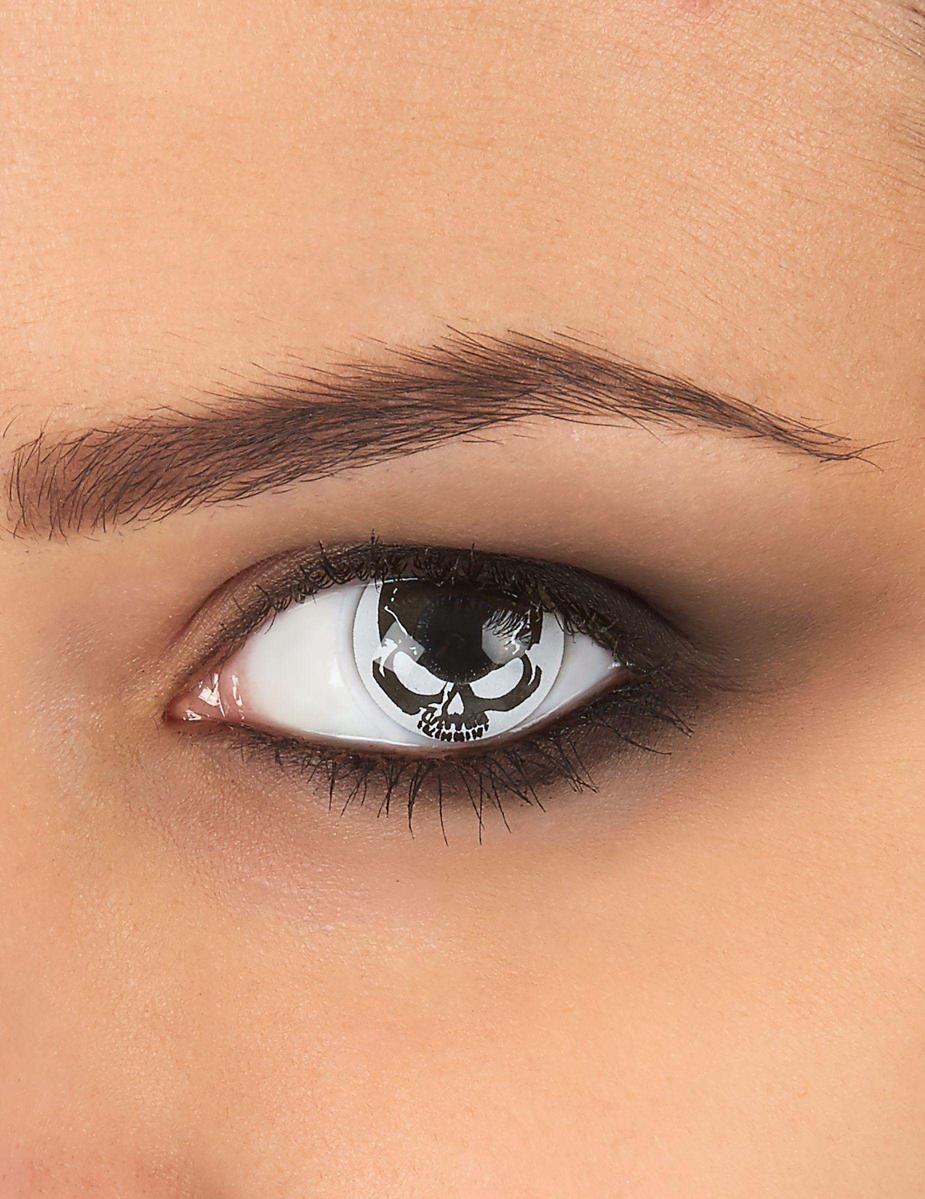 3762f941af Lentillas de contacto fantasía calavera adulto Halloween: Estas lentillas  fantasía son para adultos.Se adaptan fácilmente al iris del ojo y están  decoradas ...