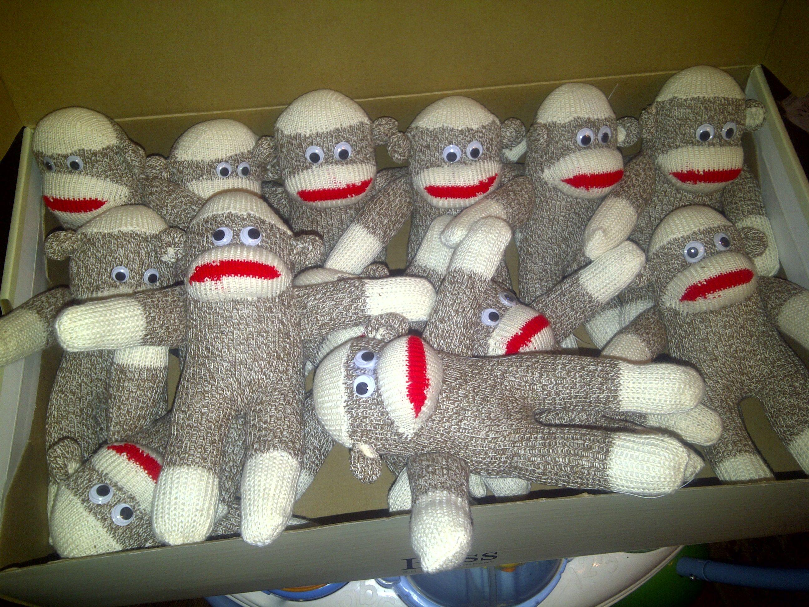 Sock monkey birthday kraft sock monkey party monkey baby shower monkey birthday red sock monkey party sock monkey decorations