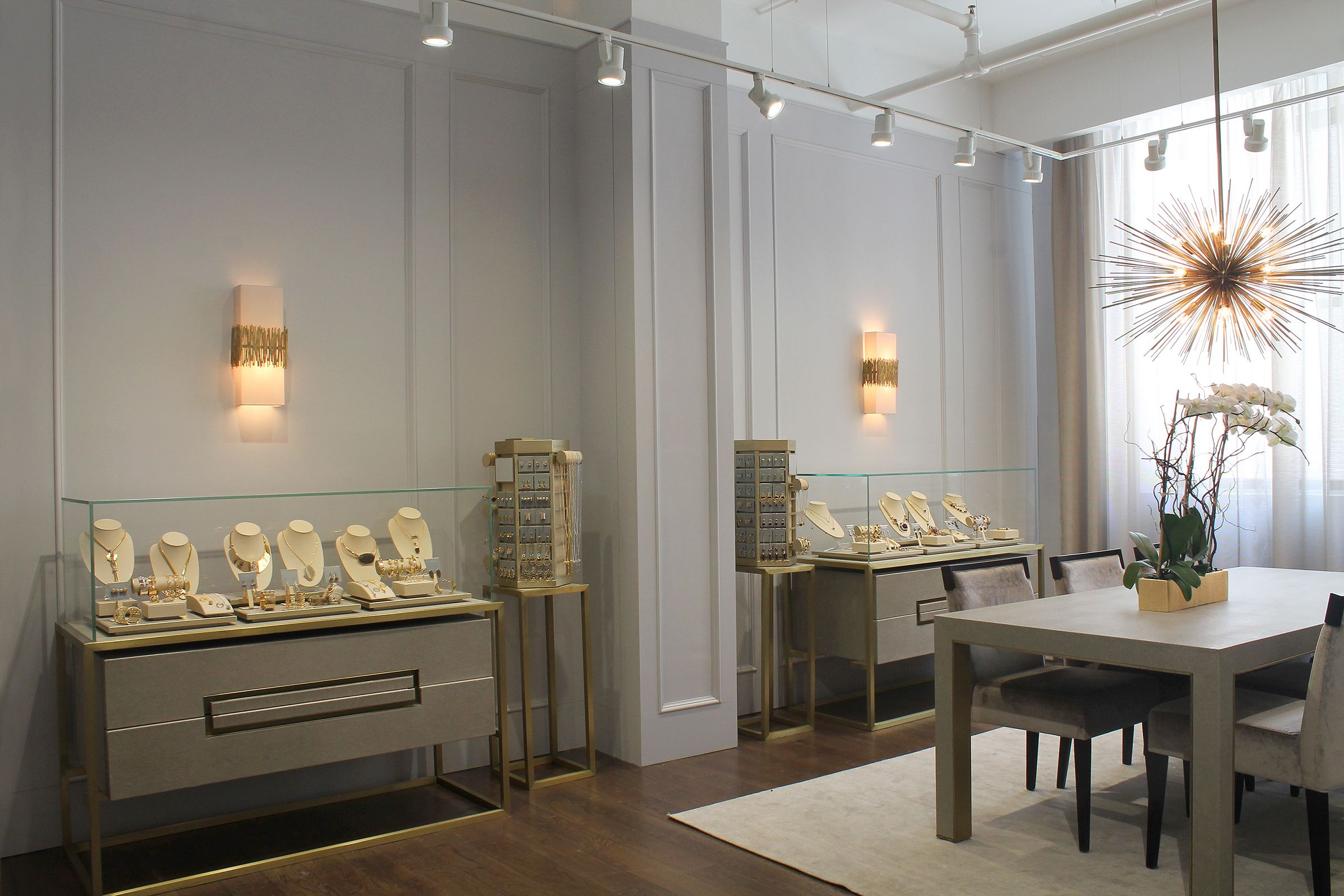 Showrooms showroom35 ny showroom pinterest showroom walls matchstick wall lights by porta romana in louise et cie mozeypictures Image collections