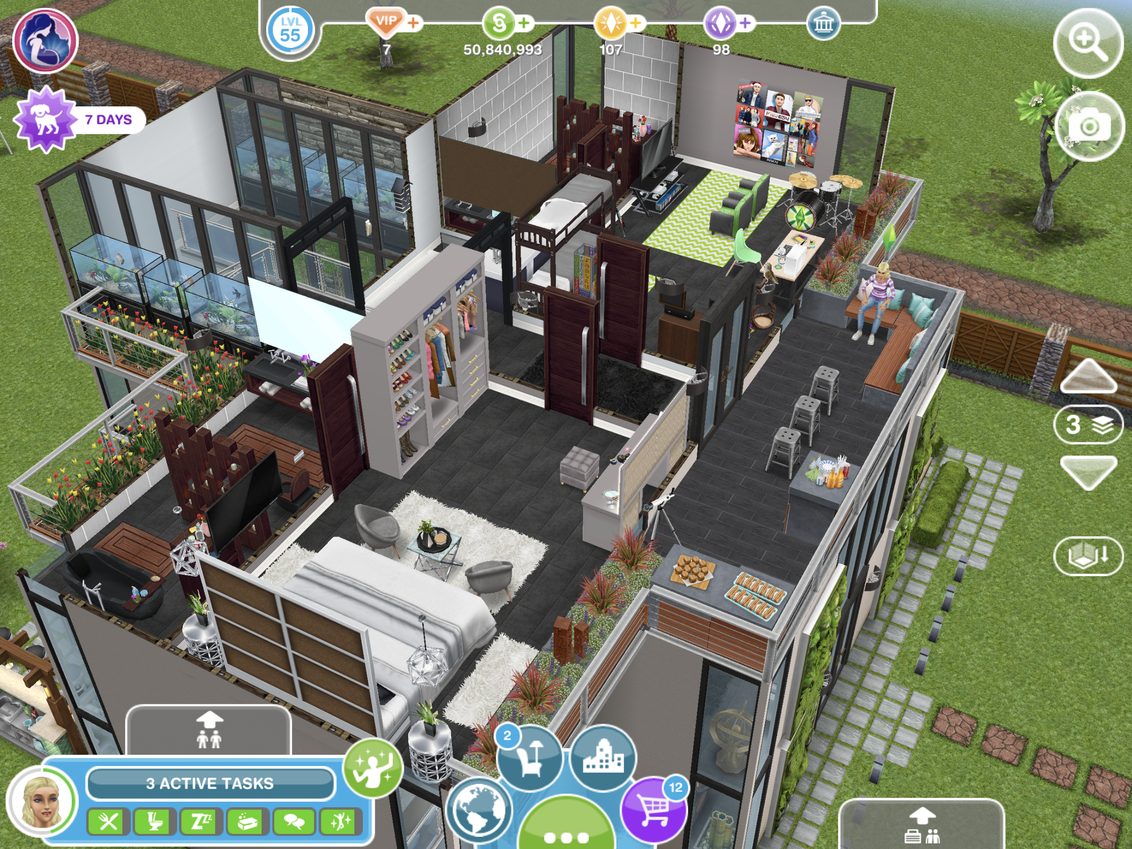 002 View 06 Sims Freeplay Houses House Styles Mansions