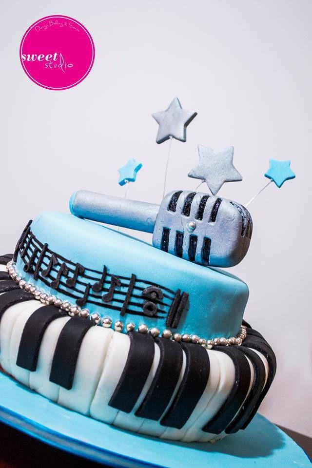 Music Cake Microphone Cake Piano Cake Pentagram Cake Our Cakes