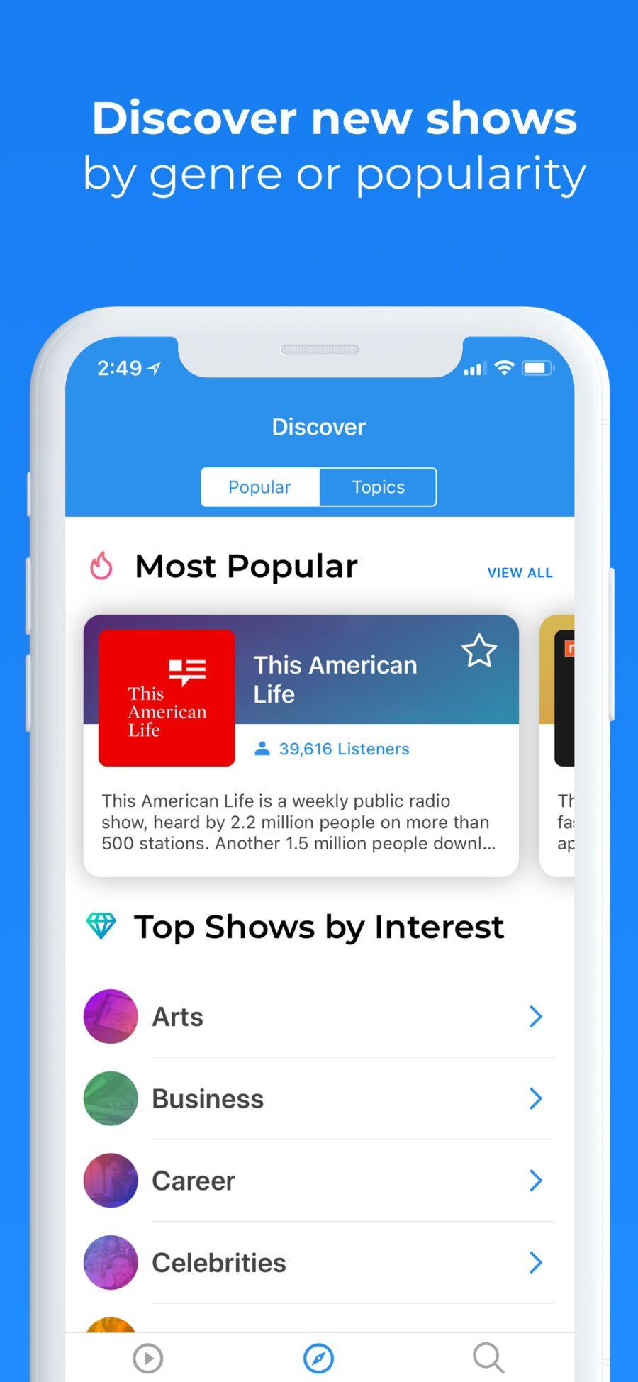 Podcast Hunt App Design App design, Iphone apps, Podcasts