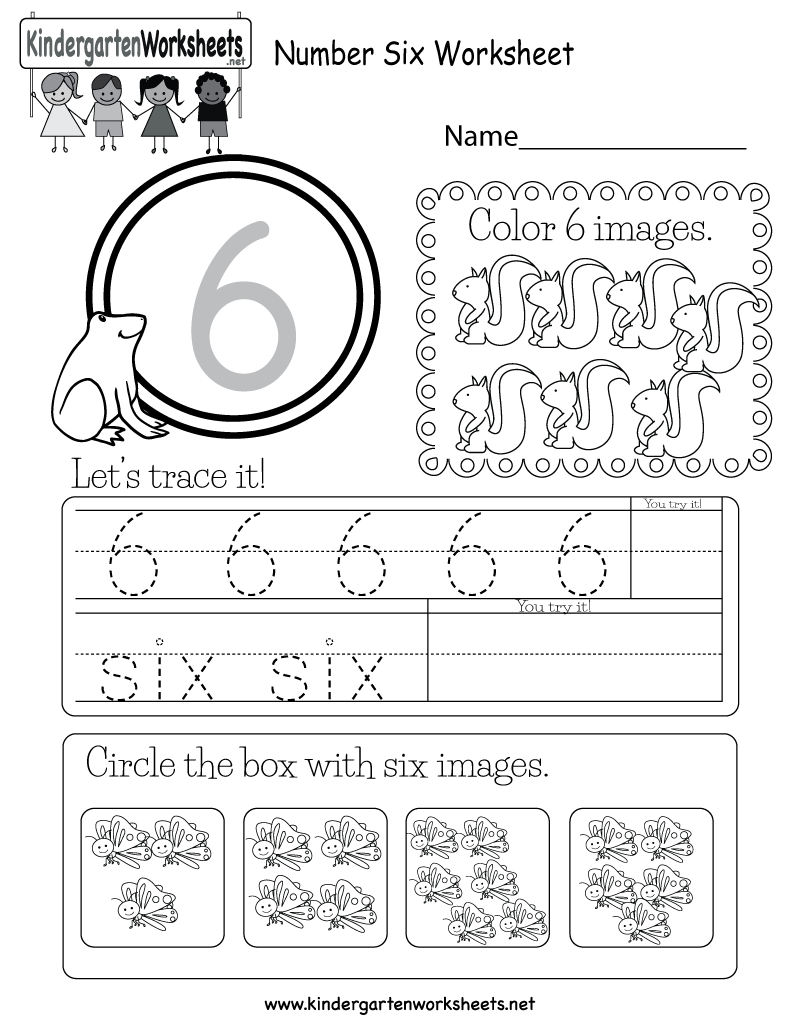 This Is A Number 6 Worksheet Children Can Trace The Number And Circle The B Preschool Number Worksheets Kids Math Worksheets Kindergarten Math Worksheets Free