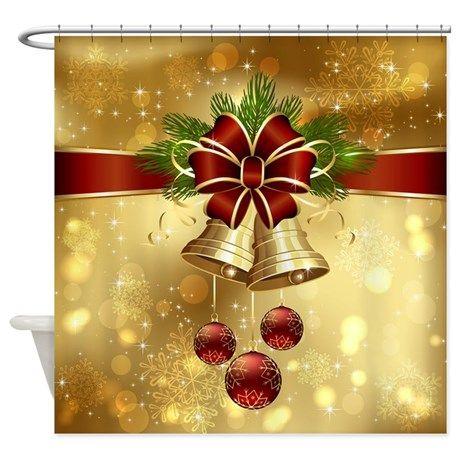 Elegant Christmas Shower Curtain On Cafepress Com Christmas