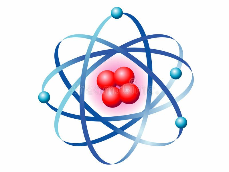 Atom Illustration of the symbol of the atom