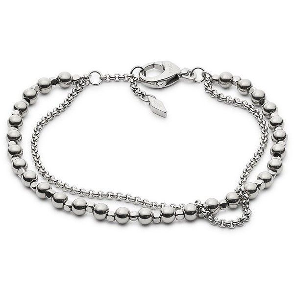 Fossil Silver Semi-Precious Double-Chain Bracelet ($38