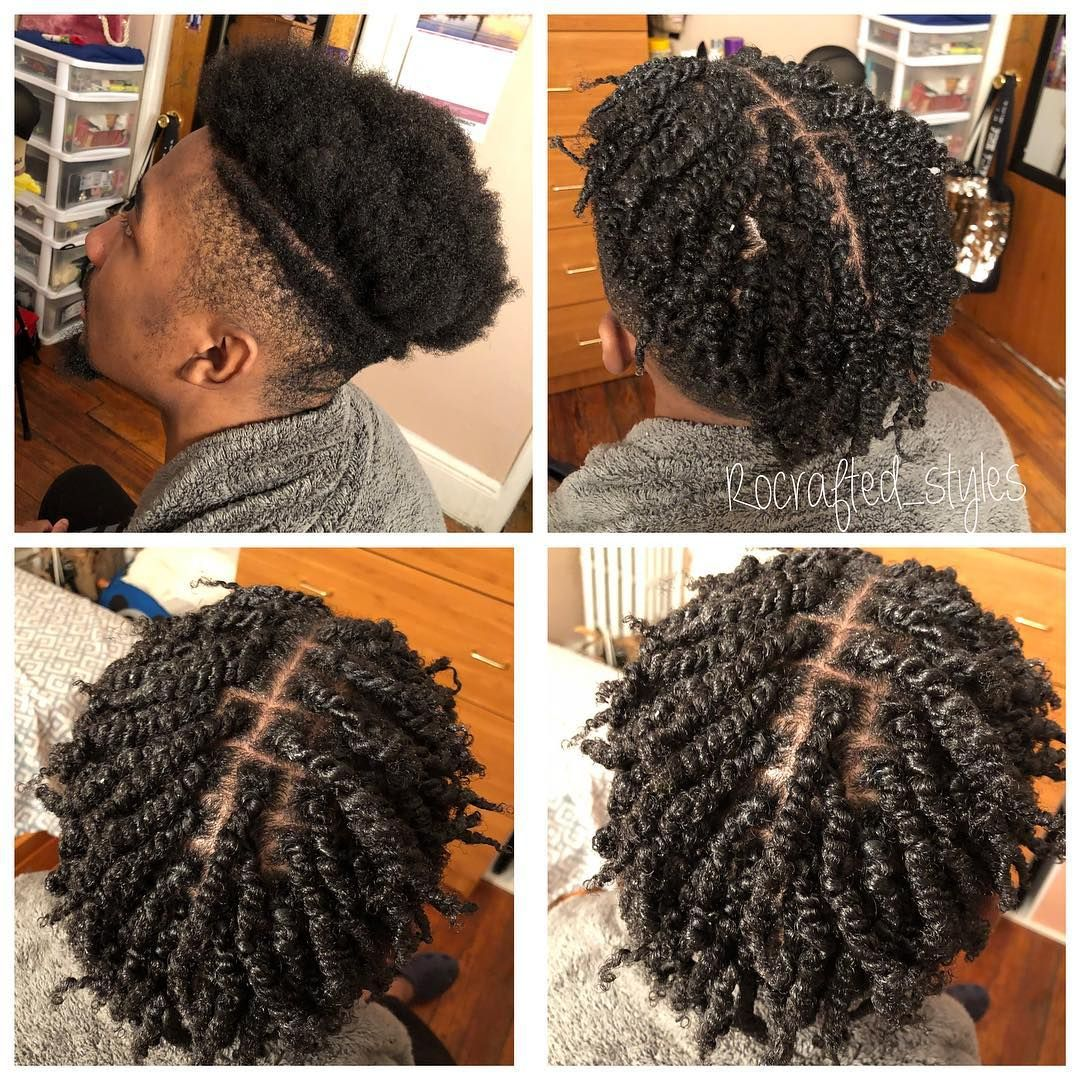Ann V On Instagram Guys Need Love Too Love A Good Twist Style Twistout Rocrafte Hair Twist Styles Mens Braids Hairstyles Short Hair Twist Styles
