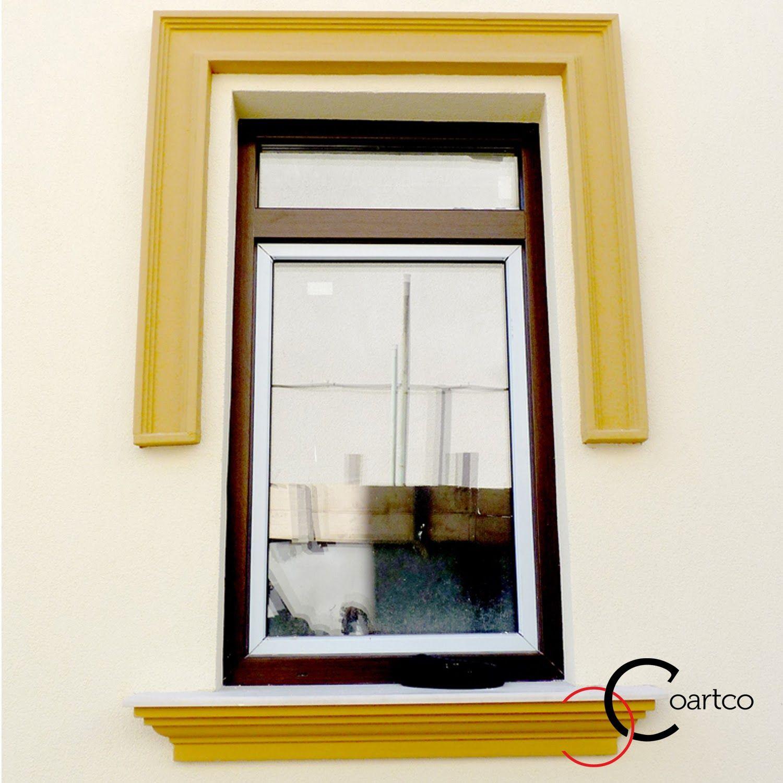 Exterior Window Frames Polystyrene Decorative Profiles