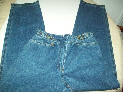 Ralph Lauren Jeans co. denim jeans size 4 Mock Belt 4X 31 8.00