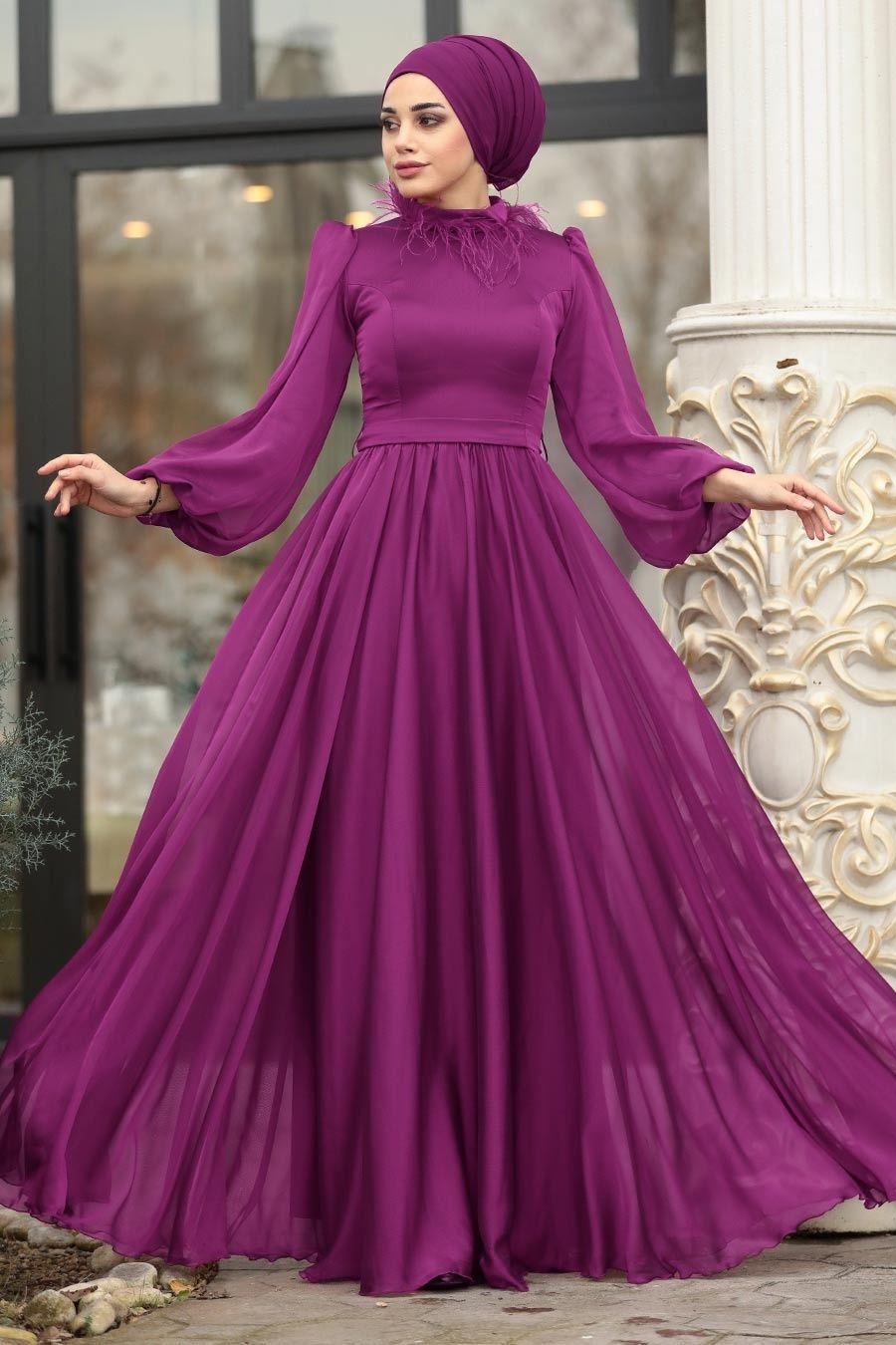 Tesetturlu Abiye Elbise Tuylu Balon Kol Murdum Tesettur Abiye Elbise 3925mu Tesetturisland Com 2020 Elbise Resmi Elbise Giyim