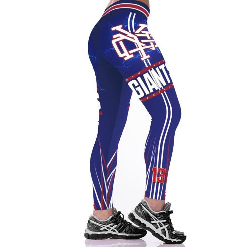 New york giants 3d print yoga gym sports leggings high