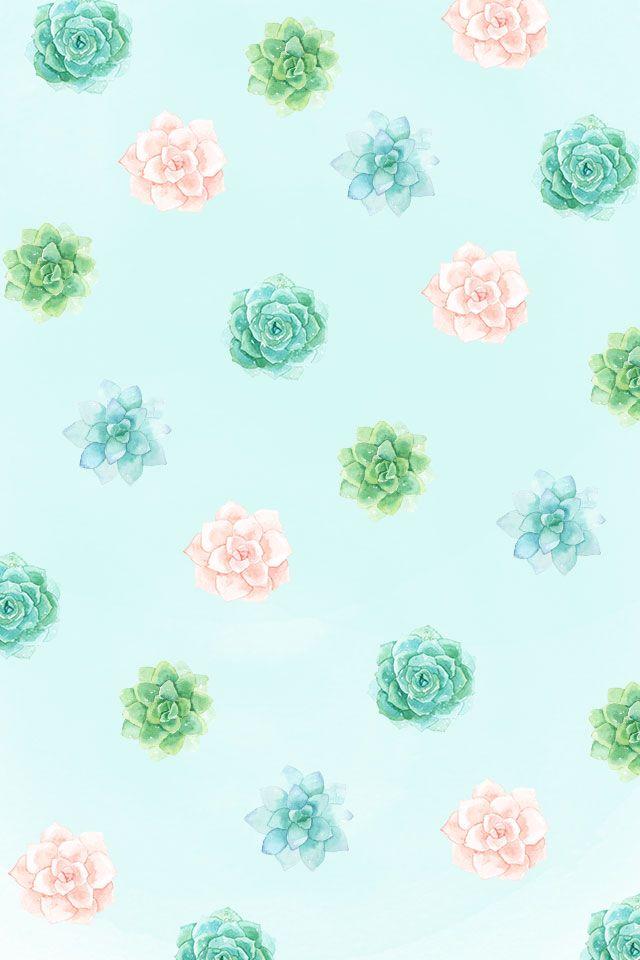 𝚙𝚒𝚗𝚝𝚎𝚛𝚎𝚜𝚝 emerald sue Watercolor Wallpaper