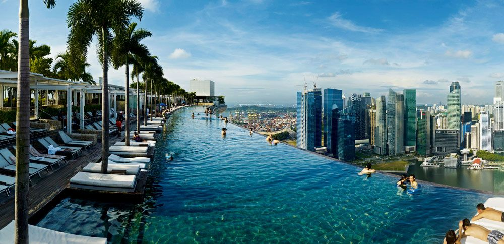 48 Hours In Singapore The Rooftop Pool At Marina Bay Sands 1 000 484 Pixels Holidays