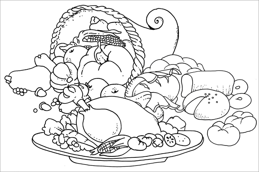 cb60029dd437bfd1339ae25a6ff3ae63 » Coloring Sheets Thanksgiving Food