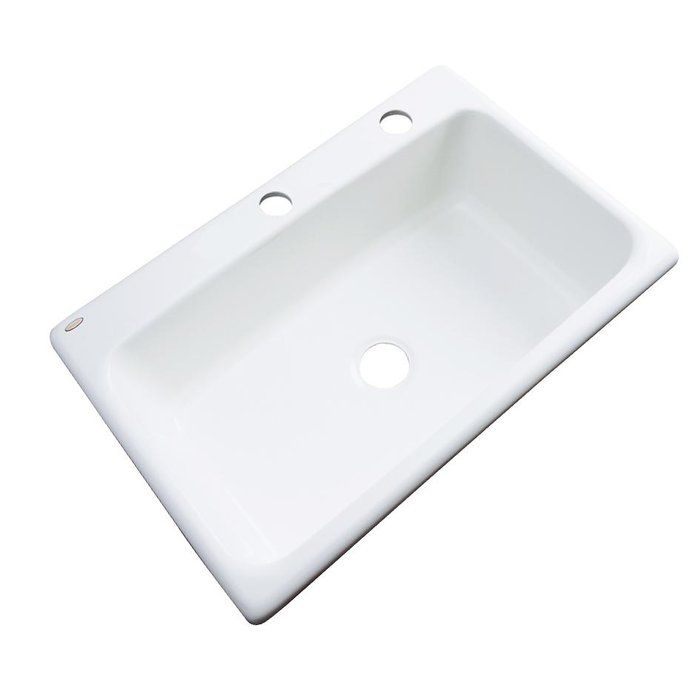 The Wilmington Drop In Acrylic Single Bowl Kitchen Sink Offers Beauty Of Porcelain And Strength Cast Iron Yet Is Conveniently Lightweight