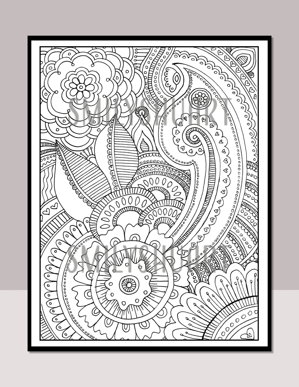 Adult Coloring Book Art Therapy Volume 3 Printable Coloring Book Digital Download Print Color 20 Grown Up Coloring Page Patterns Knizhka Raskraska Raskraski I Podelki Iz Knig