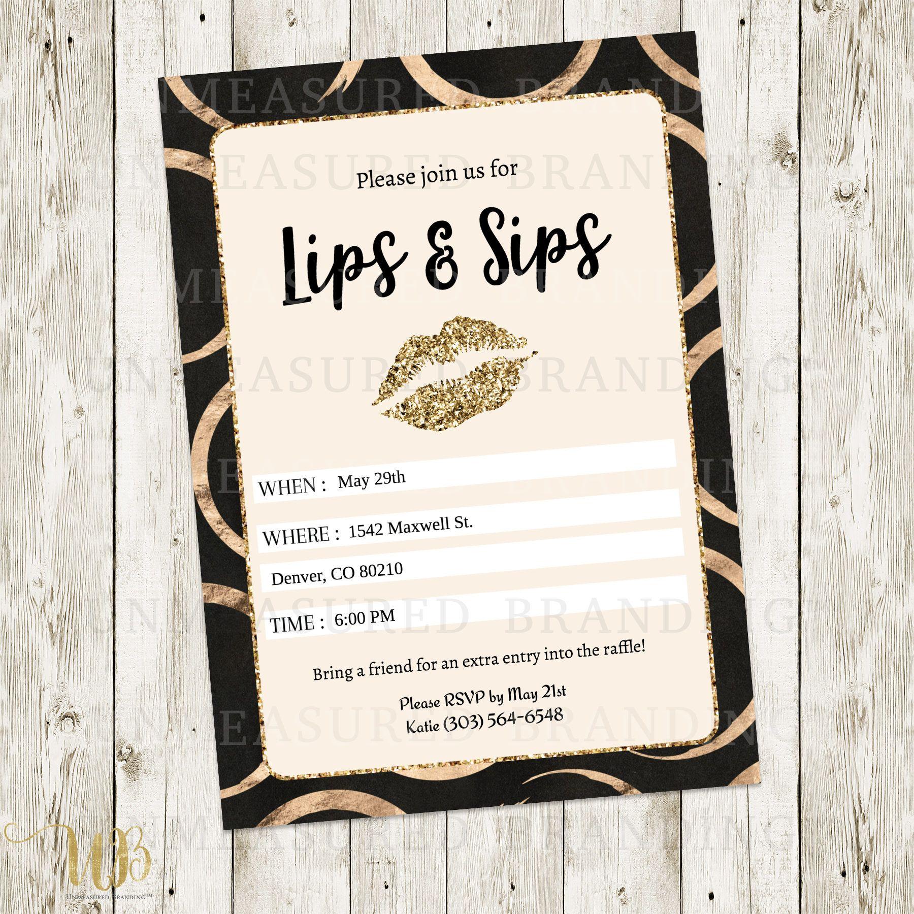 LipSense Business Party Invitation | LIPSENSE & MAKEUP | Pinterest ...