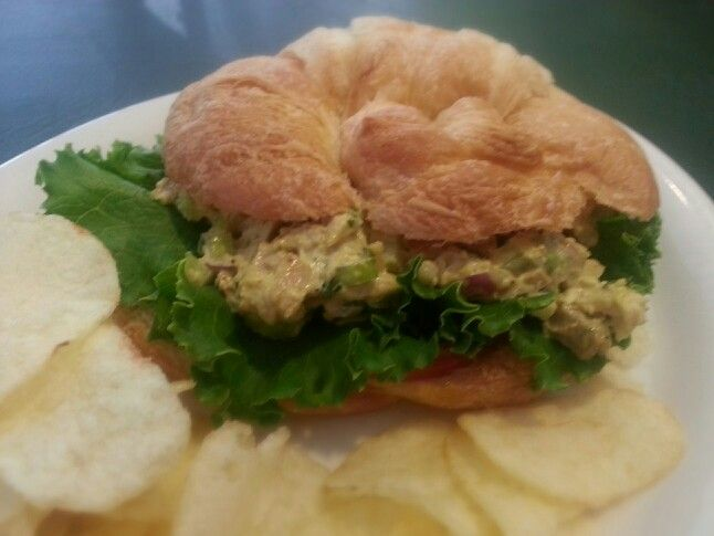 Today's special is Curried Chicken Salad on a croissant. Come in and try it!