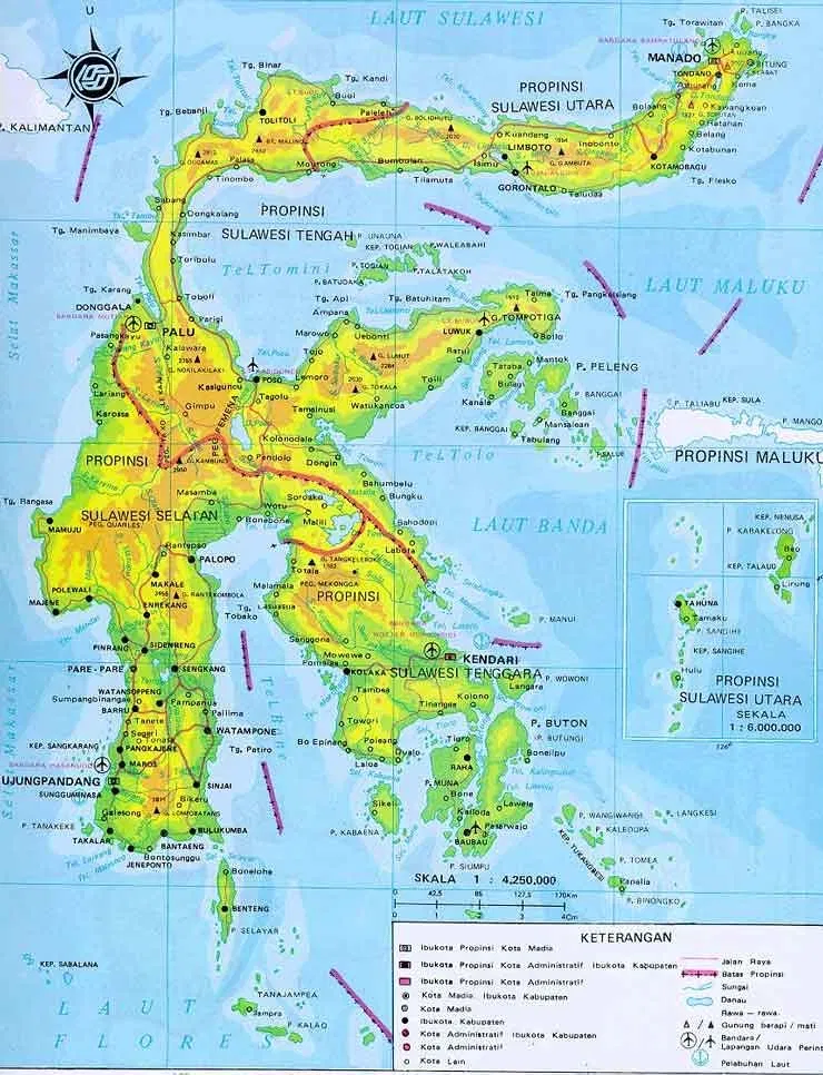 5 Pulau Terbesar Di Indonesia Pulau Indonesia Peta