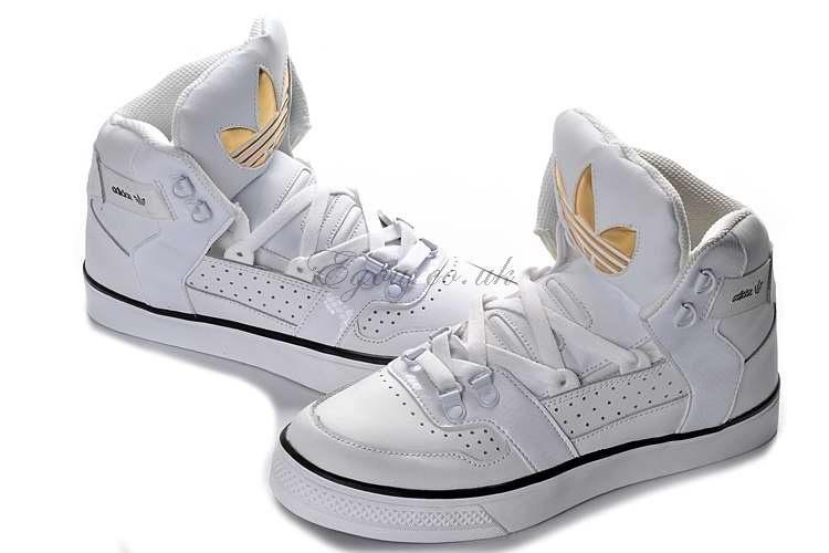 Adidas Hardland White Metallic Gold Shoes, men's adidas high