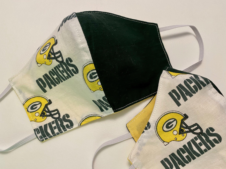 Green Bay Packers Women S Medium Face Mask Packers Print Etsy In 2020 Packers Womens Face Mask Womens Medium