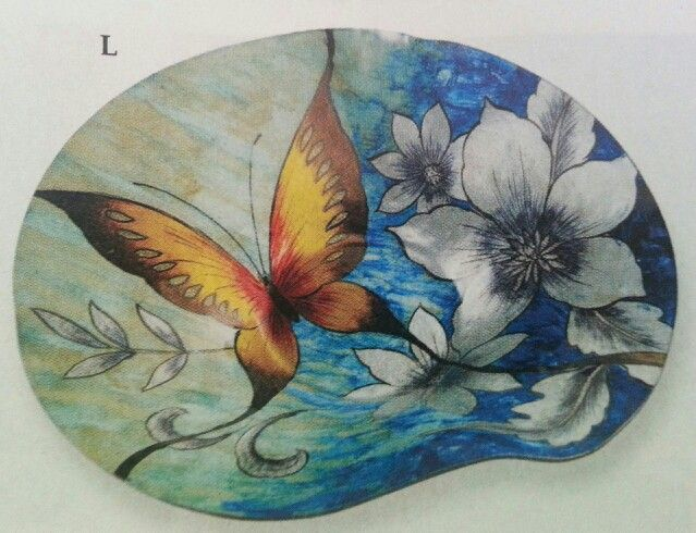 A butterfly glass bowl.