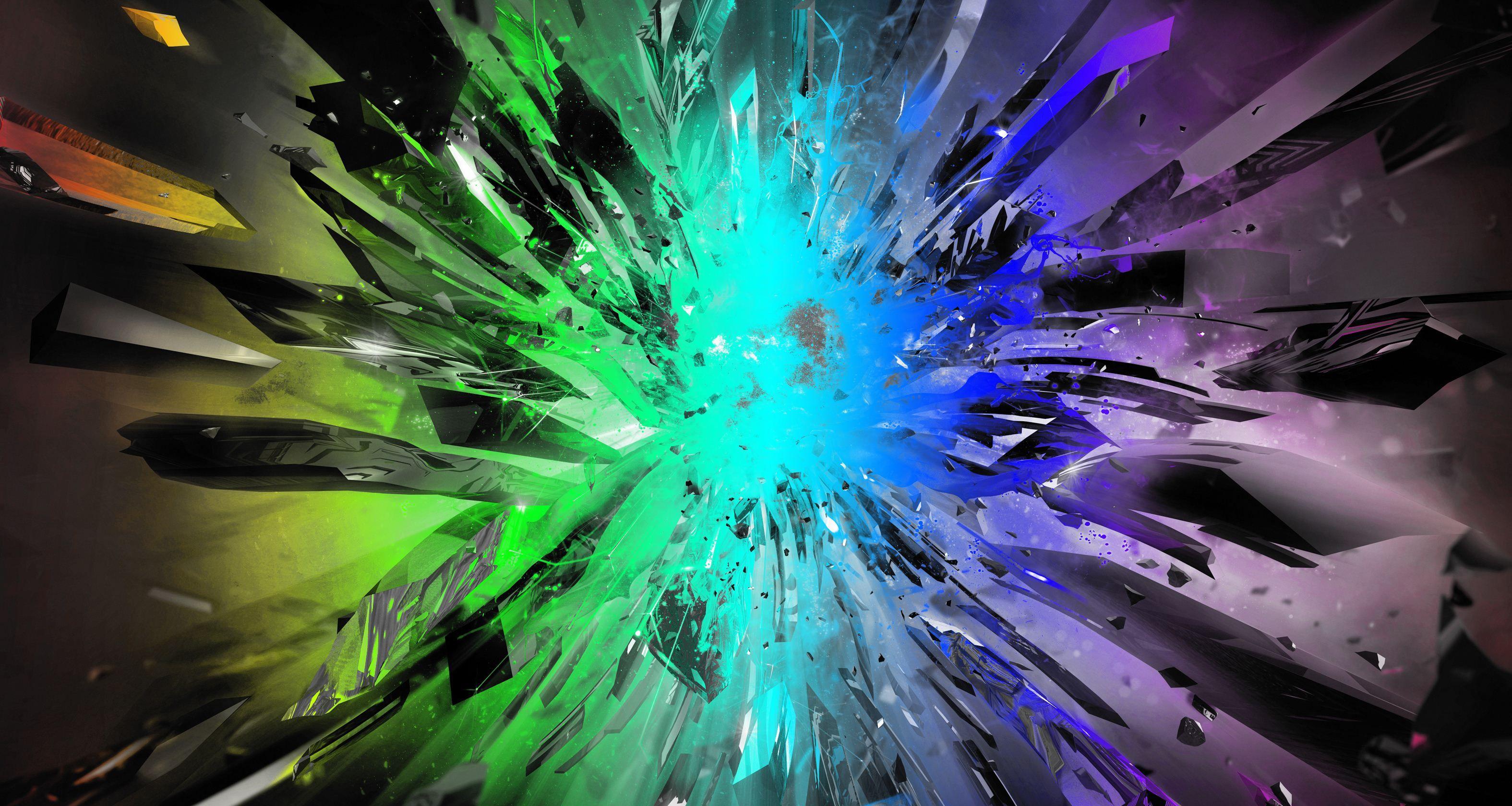 Crystal colorful explosion wallpaper gemology geology - Explosion wallpaper ...