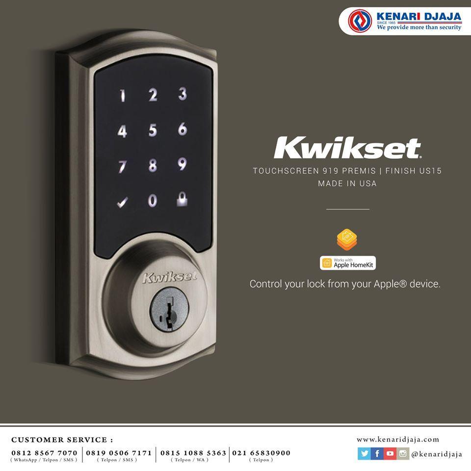 Kwikset Digital Door Lock By Kenari Djaja Keamanan Rumah Smartphone Pintu
