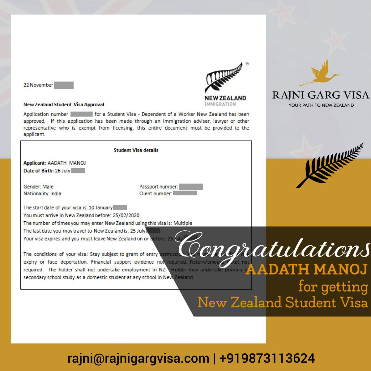 We At Rajni Garg Visa Make Sure To Provide The Best Services To