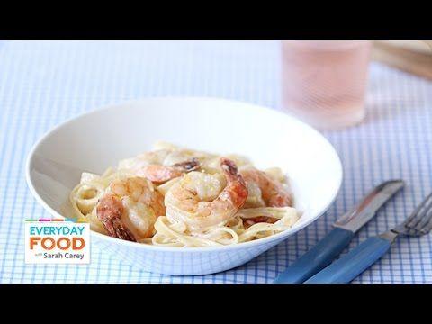 Fettuccini and shrimp alfredo everyday food with sarah carey fettuccini and shrimp alfredo everyday food with sarah carey youtube forumfinder Gallery