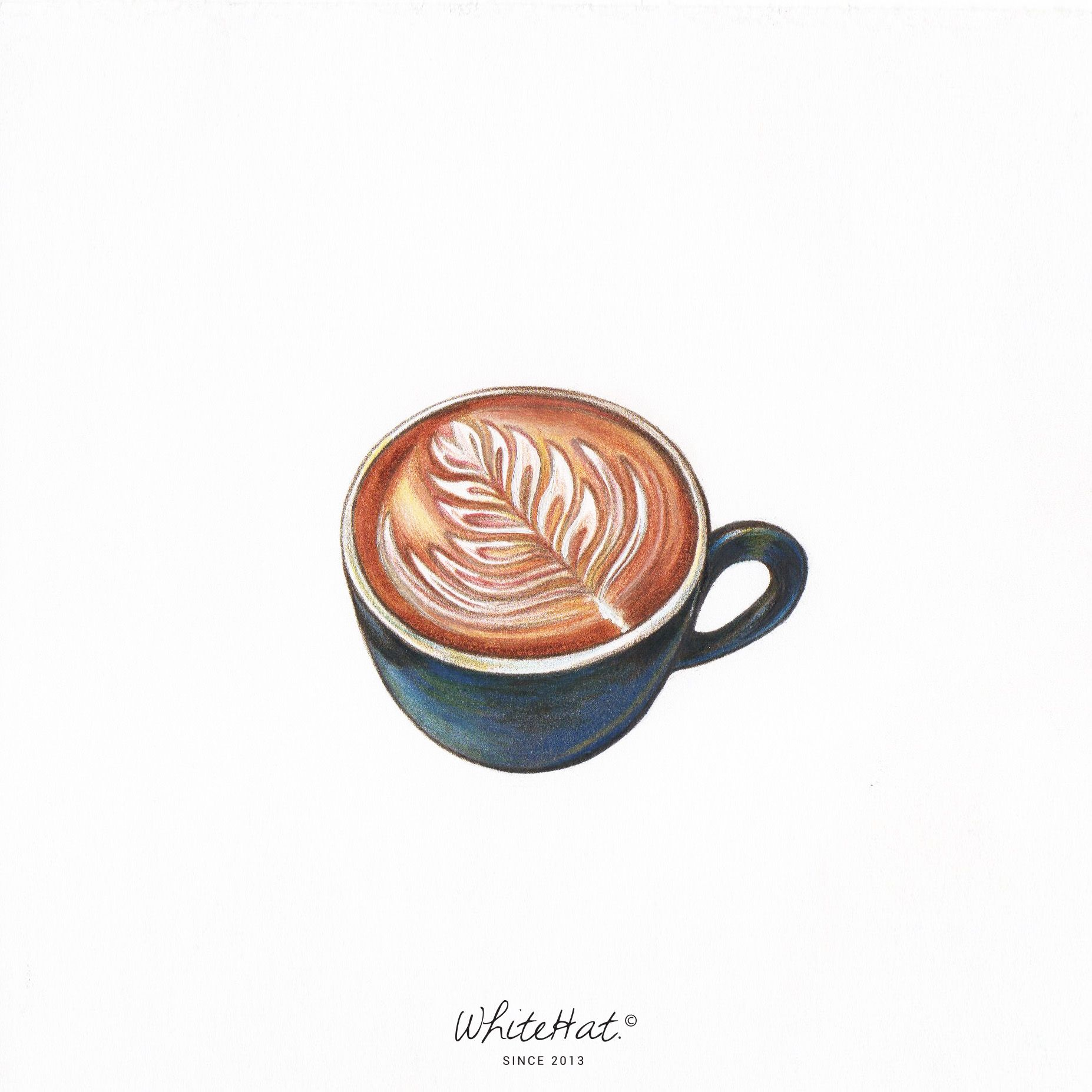 Coffee Latte Art Quotes Latte Art By White Hat Illustration By White Hat In