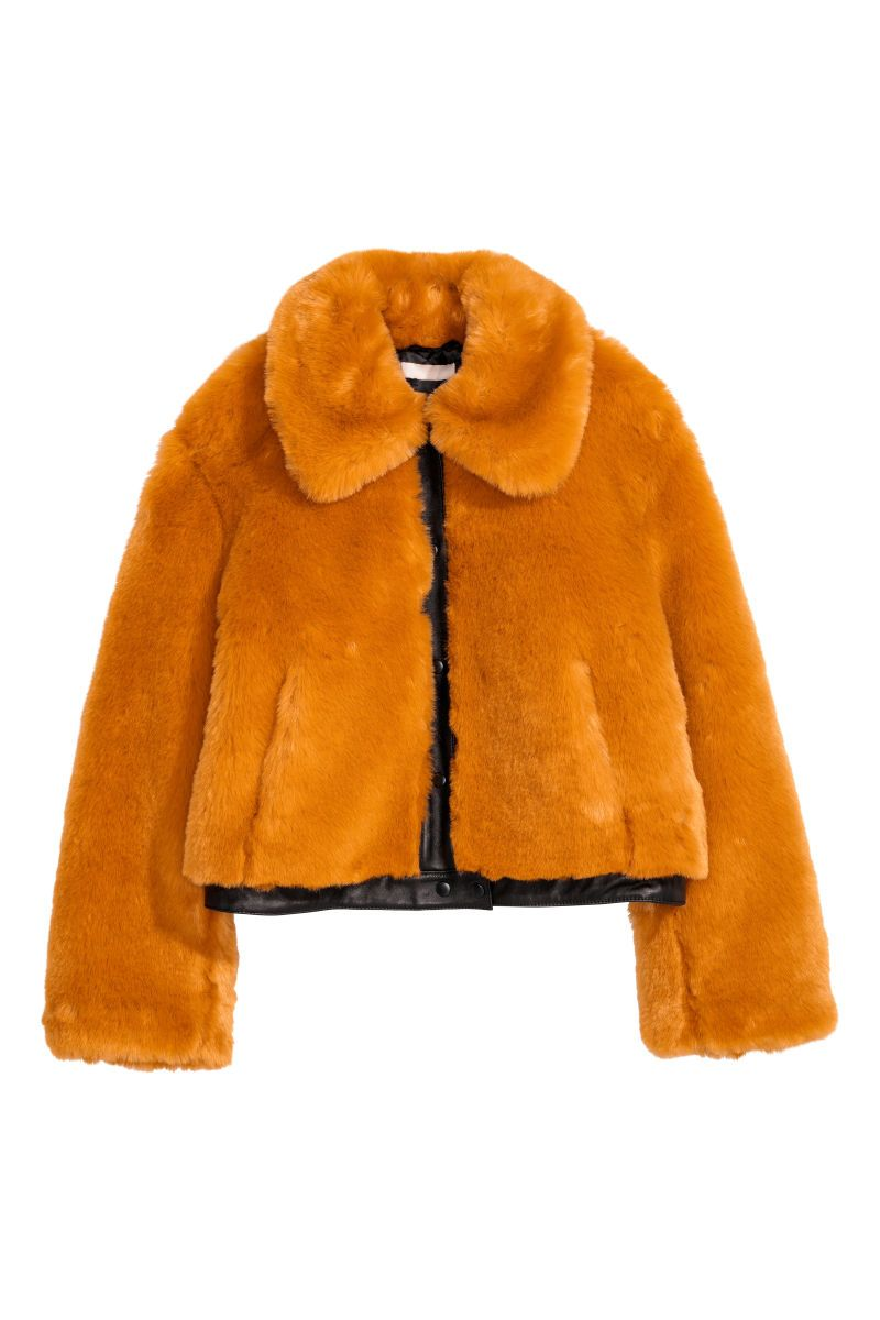 short fur jacket womens