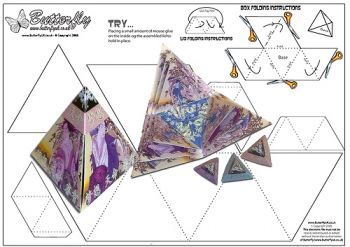 Pin By Teresa Szafryk On Papercrafting Exploding Box Template Cards Exploding Gift Box