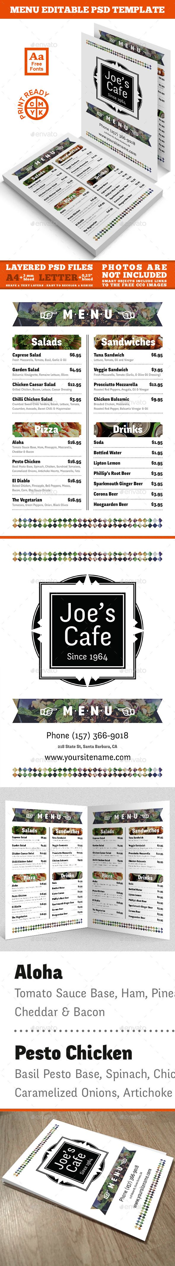 Cafe Menu Template  Menu Templates Food Menu Template And Menu
