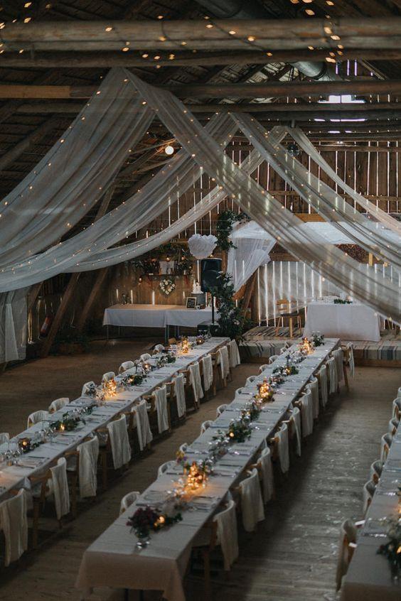 20+ Rustic Country Barn Wedding Reception Ideas