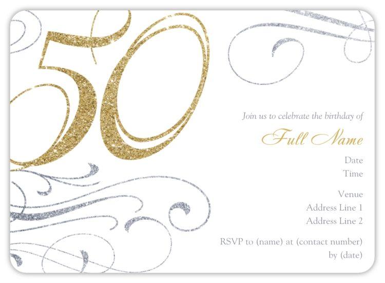 Rounded Corner Invitations in 2020   Printable birthday ...