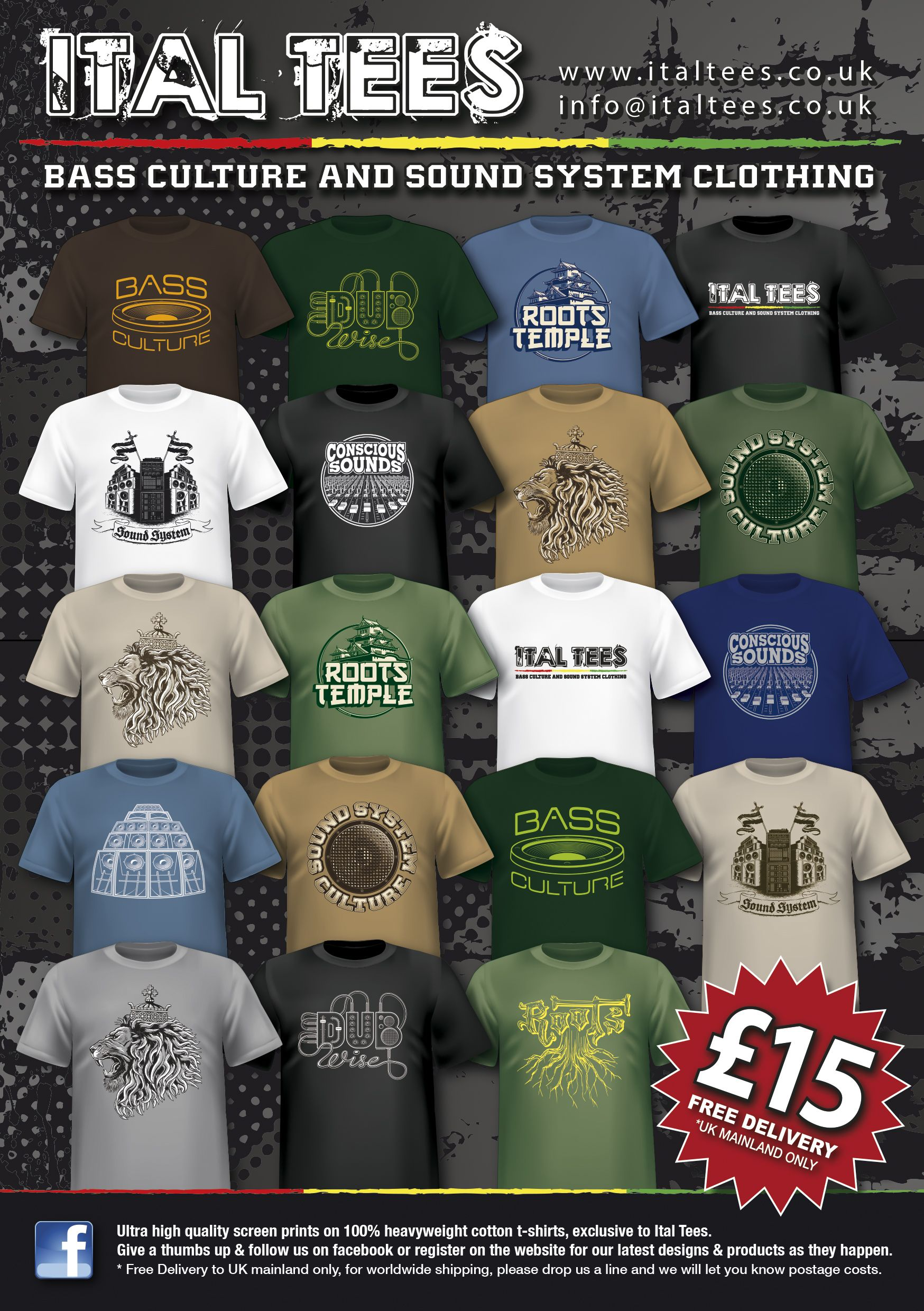 Ital tees bass culture and sound system clothing - 1000 Images About Sound System Culture Tshirts On Pinterest Tees And Design