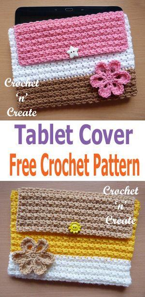 Crochet Tablet Cover Free Crochet Pattern   Pinterest   Stricken und ...