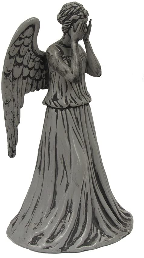 Amazon Com Kurt Adler Doctor Who Weeping Angel Treetop 8 5 Inch Home Kitchen Weeping Angel Geek Christmas Ornaments Kurt Adler