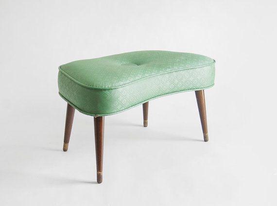 Mid Century Footstool Ottoman Modern Retro 1950u0027s By Hindsvik, $125.00