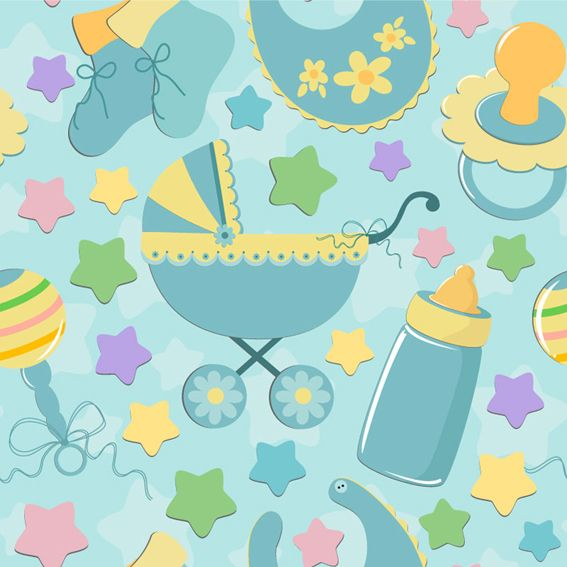 Baby Cute Background Vector Baby Themes Theme Background Boys Wallpaper
