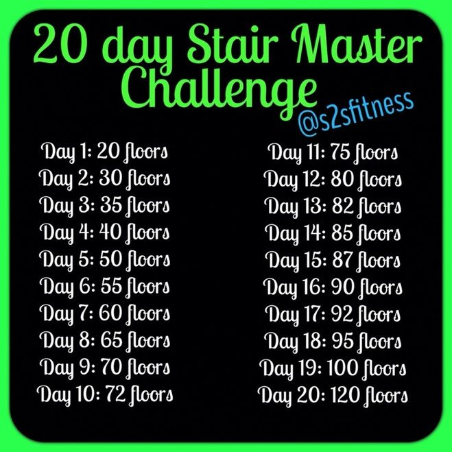 Stair Master Flight Challenge Exercise