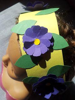 Mädchen Blumenkrone aus Papier - soooo einfach!