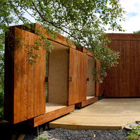 Wooden sheds by Rever u0026 Drage featuring a retractable roof & Wooden sheds by Rever u0026 Drage featuring a retractable roof | Doors ... pezcame.com