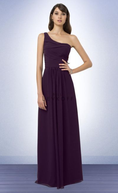 Bill Levkoff 771 One Shoulder Long Bridesmaid Dress at frenchnovelty.com