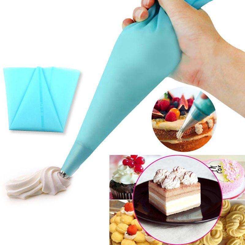 1 unids reutilizable icing piping crema pastelera bolsa de ...