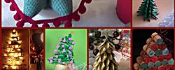 8 originales árboles de Navidad, ideales para casas pequeñas