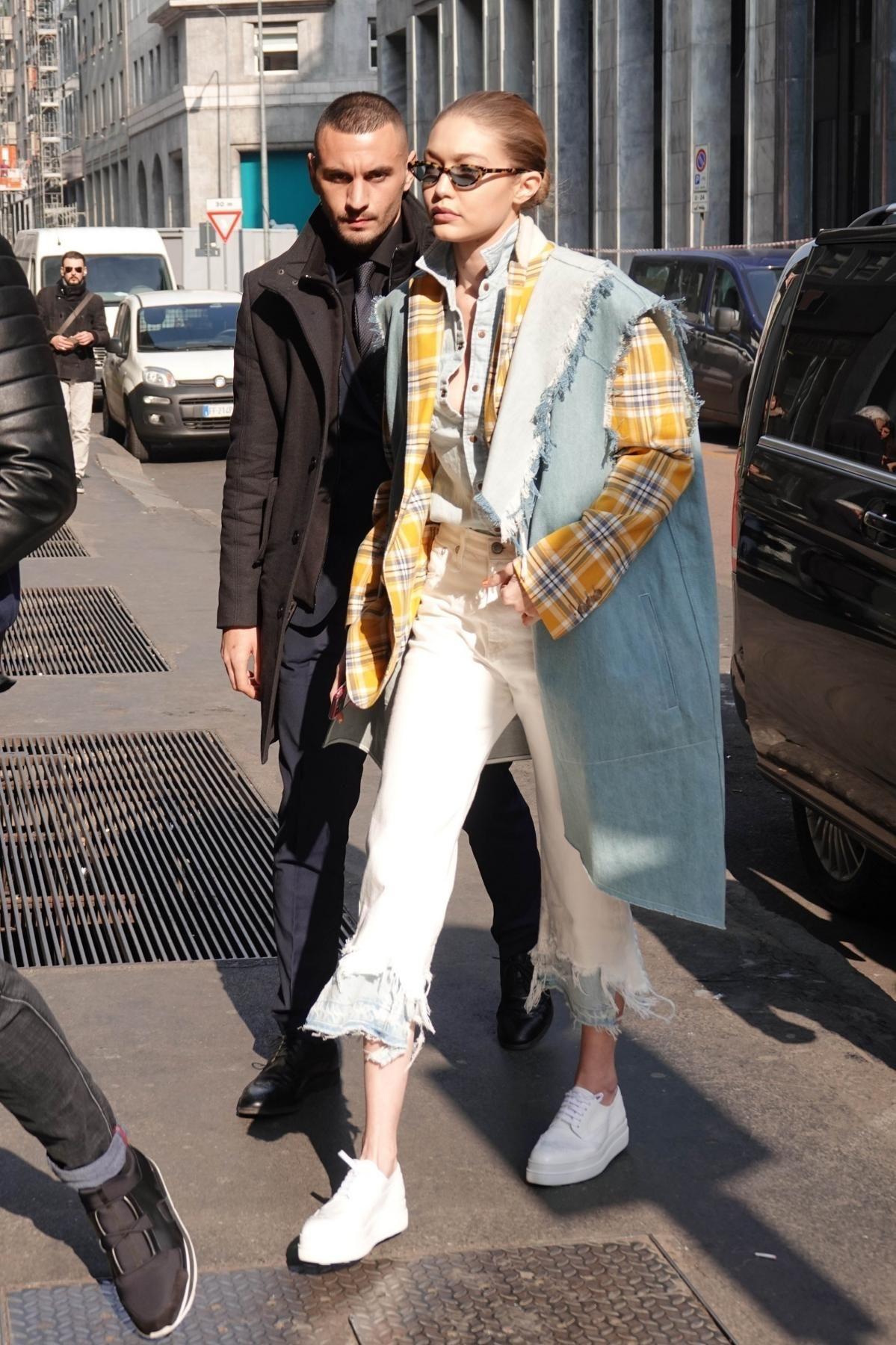 50160d876b Gigi Hadid Fashion Milan February 21