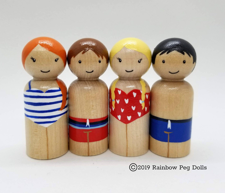 Summer Holiday Peg Doll Set